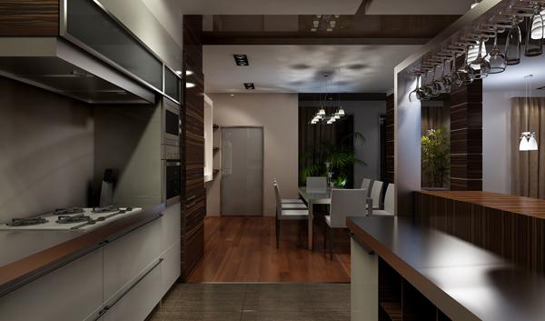 Дизайн кухни в доме знаменитости